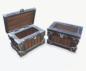 3D stylized chest