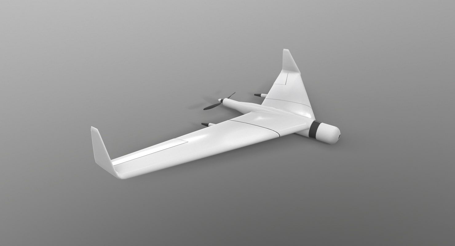zala unmanned aerial vehicle 3D model