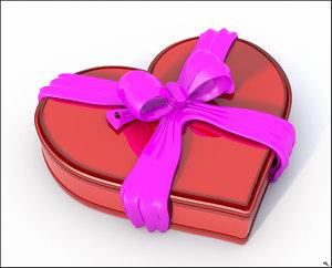 3D model closed box valentine