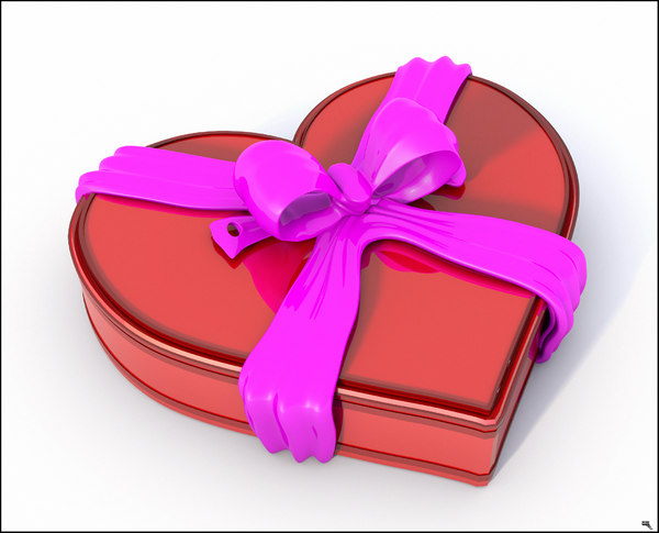 3D model closed box valentine