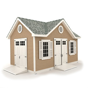 3D garden shed 04 model