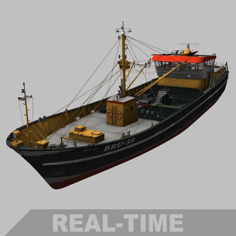 bru-33 dredger 3D model