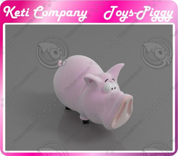 piggy pig 3D model