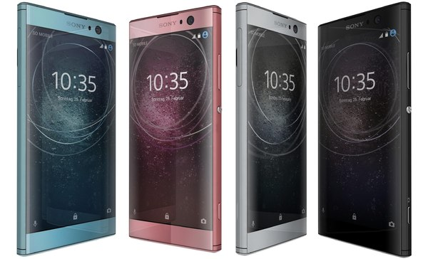3D sony xperia xa2 colors model