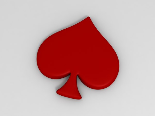 3D club poker card model