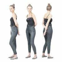 3D model girl pants