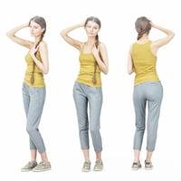 girl pants 3D