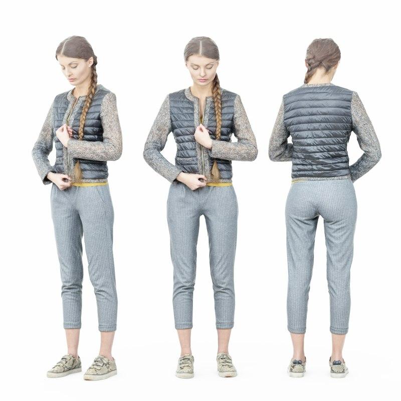 girl jacket 3D model