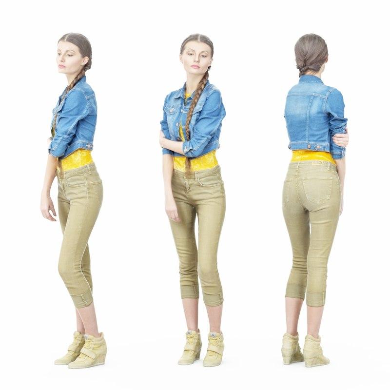 girl jacket 3D