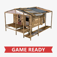 3D model old shack 2