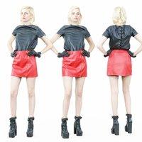 3D girl fetish leather
