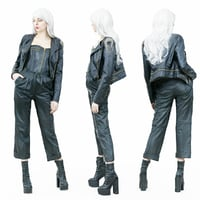 girl outfit leather 3D model
