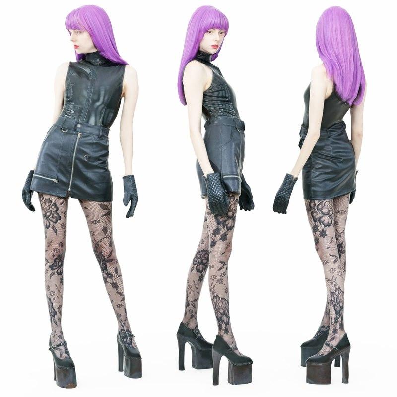 girl heels 3D