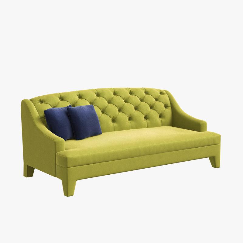 3D furniture double sofa lamartine