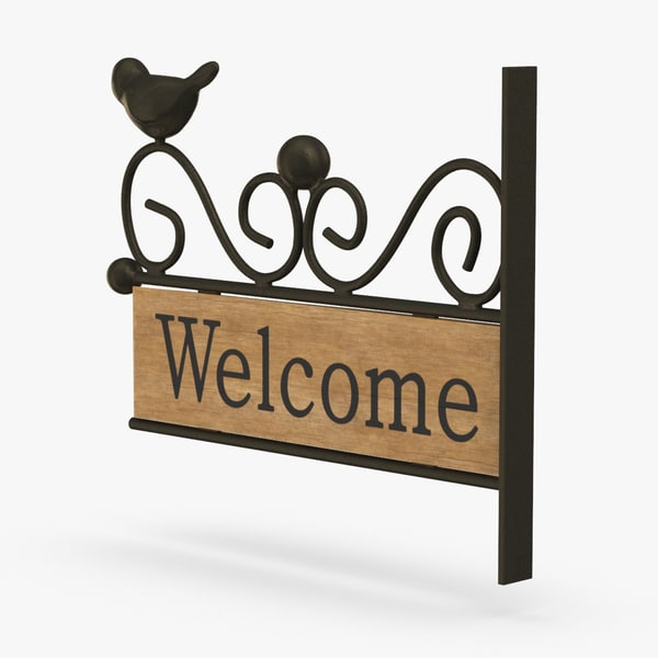 welcome-sign-01 3D model