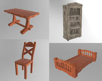 old furniture wood model