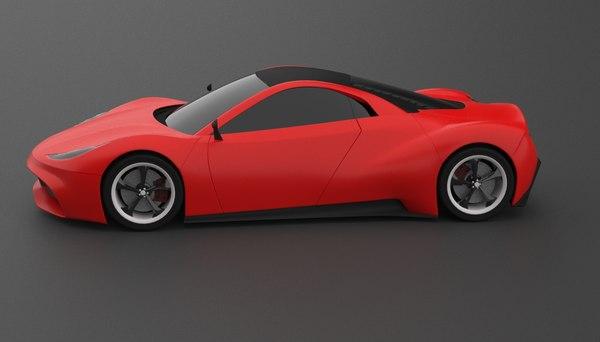 3D model project supercar idest