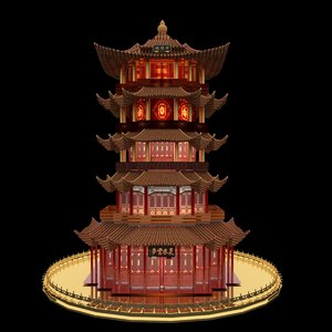 chinese tower 3D