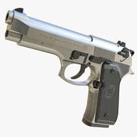 realistic m9 beretta 02 3D model