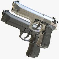 3D realistic m9 beretta