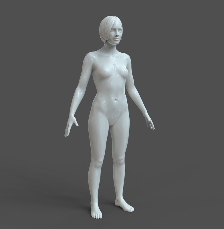 3D model casual woman basic