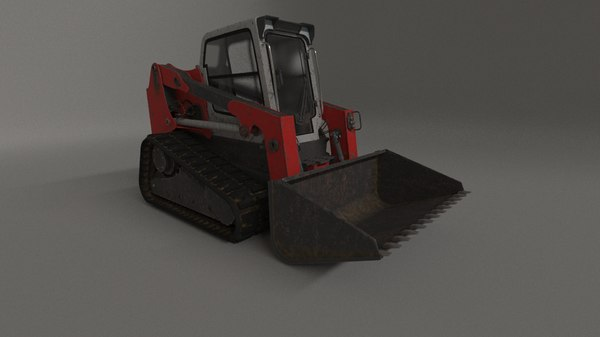 3D model bobcat tracked digger