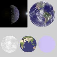 3D earth clouds atmosphere terrain
