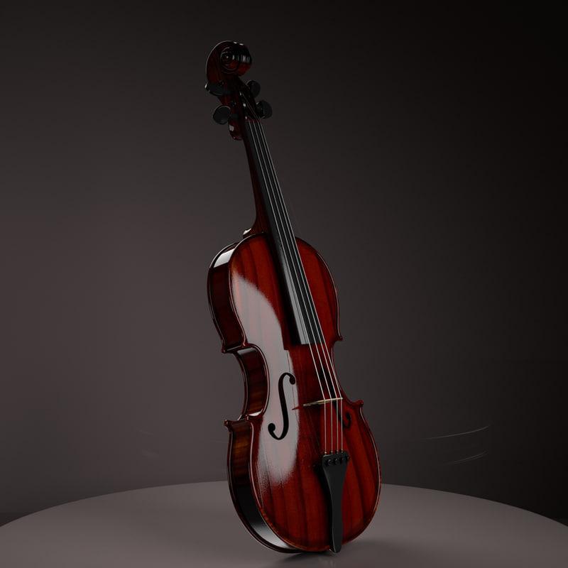 3D violin model