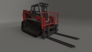 3D bobcat tracked forklift