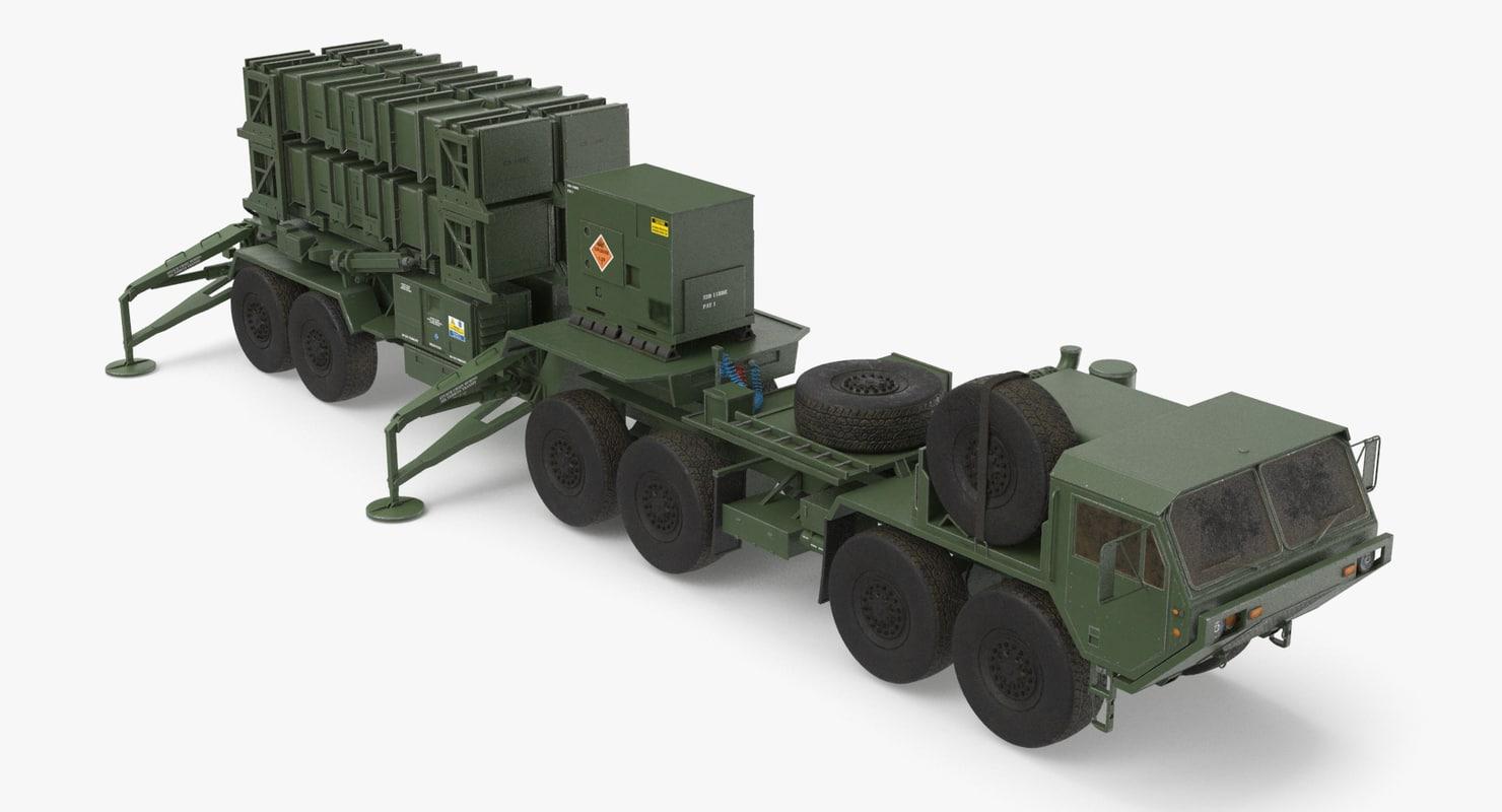 3D heavy hemtt patriot sam model