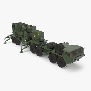 3D heavy hemtt patriot sam model