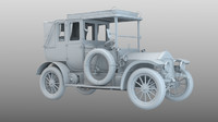 edwardian touring car 3D model