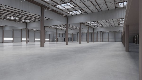 factory hall interior 7 3D model