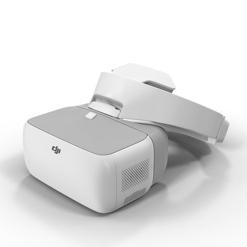 dji goggles 3D model