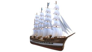 sail ship barque model