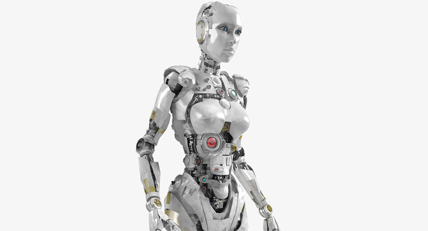 female robot 3D