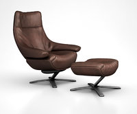3D natuzzi re-vive leather recliner