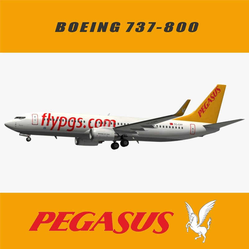 boeing pegasus airlines 3D