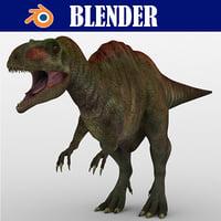 acrocanthosaurus beast dinosaurs 3D model
