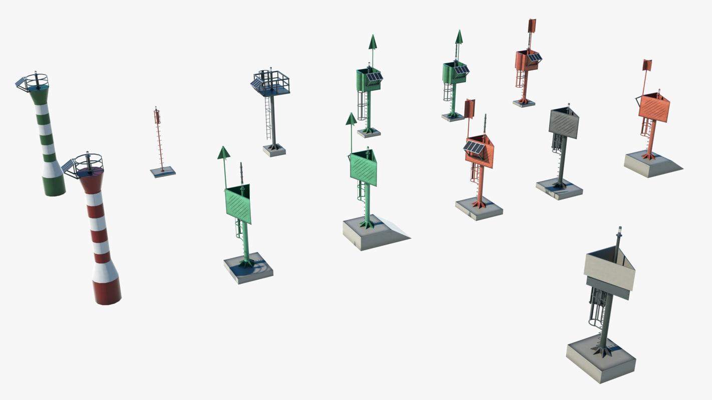port lighthouse light 3D model