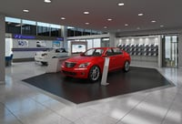car showroom build 3D model