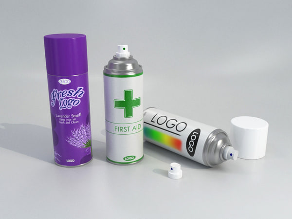 spray set - ar-vr 3D model