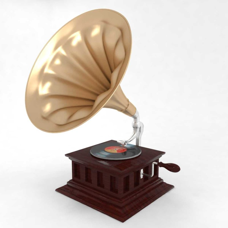 3D gramophone phonograph