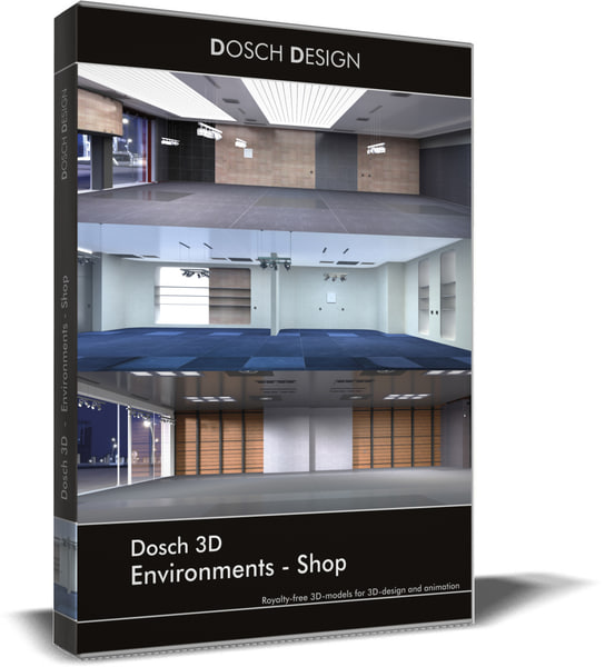 3D environments - shops model