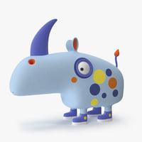 3D rhino toy