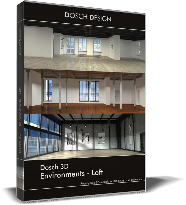 environments - lofts 3D