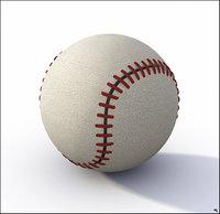 base ball baseball 3D model