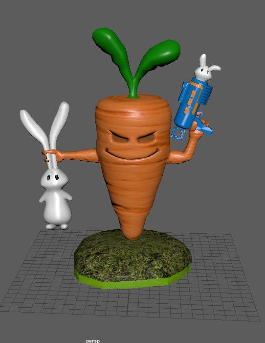 3D model skylander bunnies