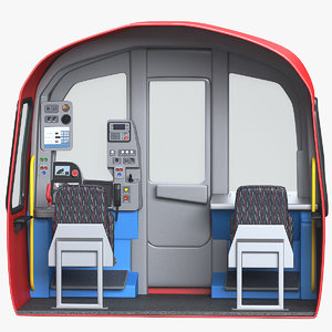 subway train cab 3D model