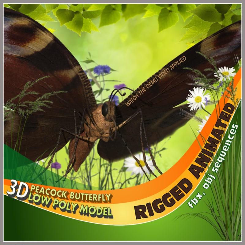 butterfly flying model